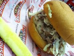 King's Hawaiian pork & slaw sandwich
