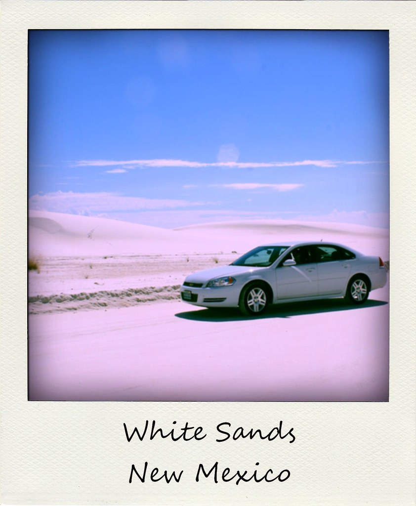 polaroid of the week new mexico white sands