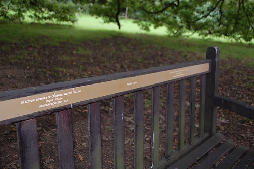 Two plaques - husband and wife memorial bench