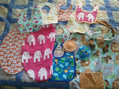First round of baby items for my sister and niece