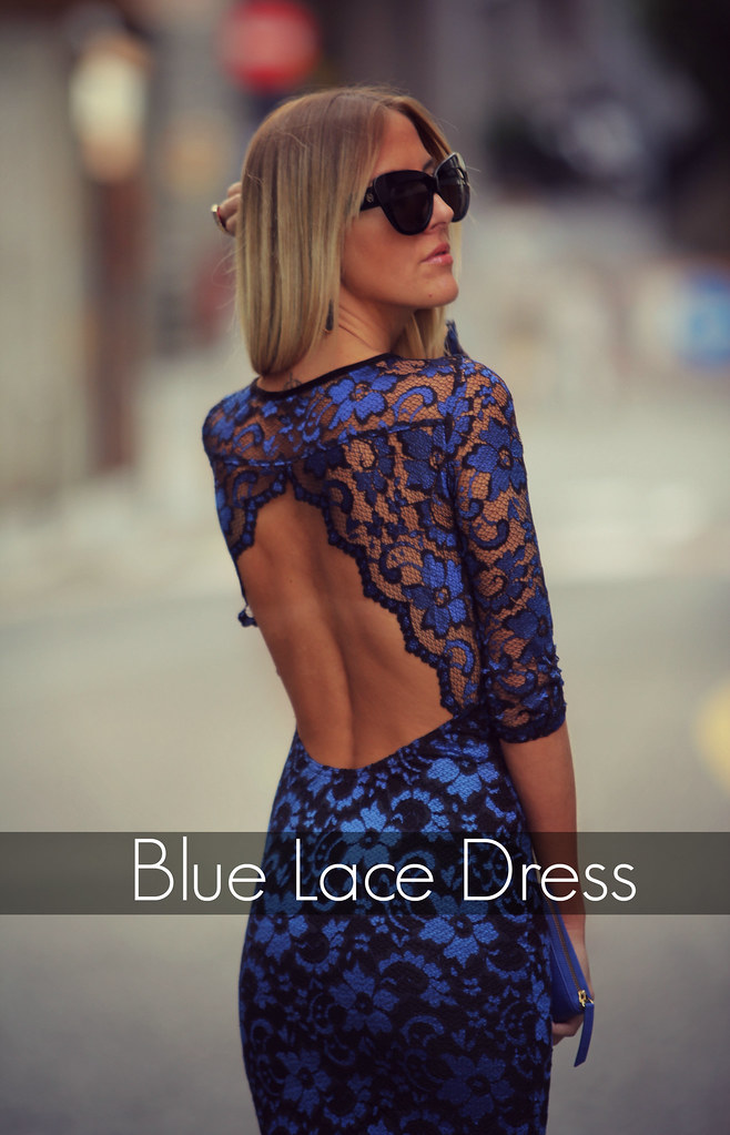 style lover lace blue dress XVI