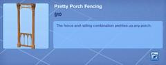 Pretty Porch Fencing