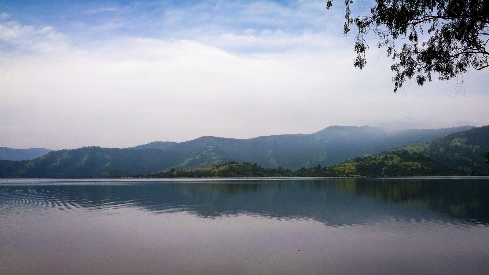 Morning view of the lake at Bamnoli