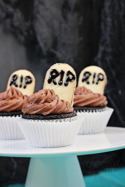 Death by Chocolate Cupcake tombstones