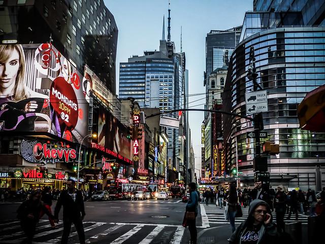 Twilight on 42nd Street