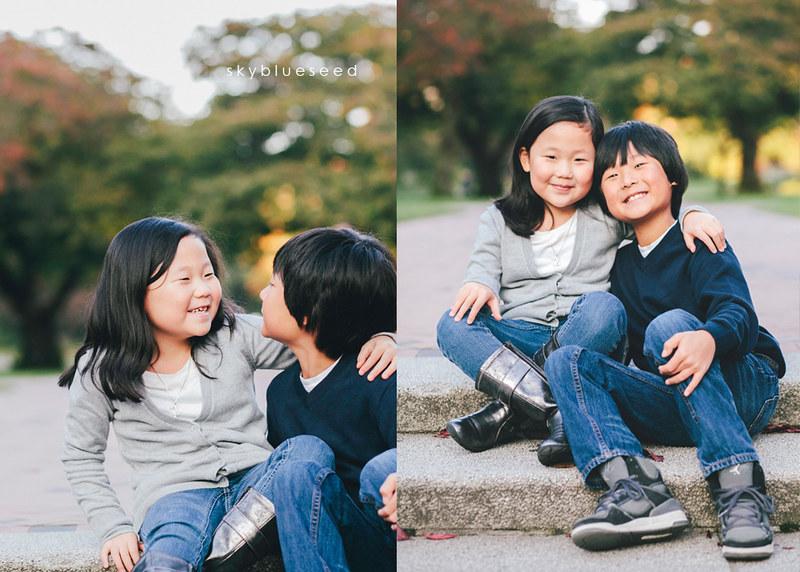 Siblings on Steps