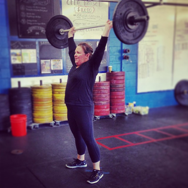 The most important part of self-mastery is allowing yourself to master things. Huge breakthrough for Julie today. 40lb snatch went up like nothing. #schoolofmastery #wetalkinboutpractice #snatches