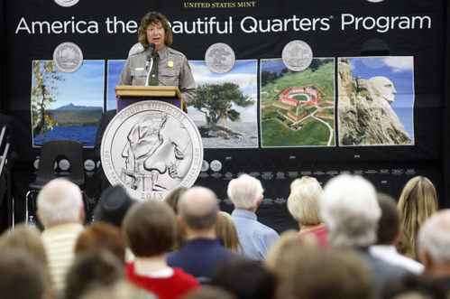 Rushmore quarter launch ceremony