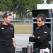Will Power and Juan Pablo Montoya chat prior to testing at Sebring