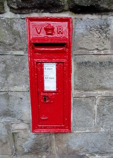 Victorian Wall Box, Grove Road/ South Parade, Ilkley