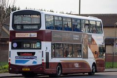 This bus was new to Lothian Buses as 798 in 2006, Seen here at West Granton....