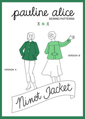 Ninot jacket pattern, swing jacket, back pleat