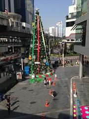 Christmas tree in front of Terminal 21 shopping center, Bangkok, Thailand