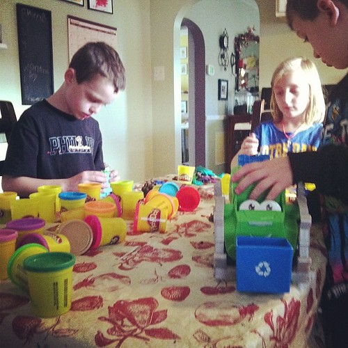 The odor of Play Doh fills the kitchen, a toy that will always be loved. #holiday2013daily