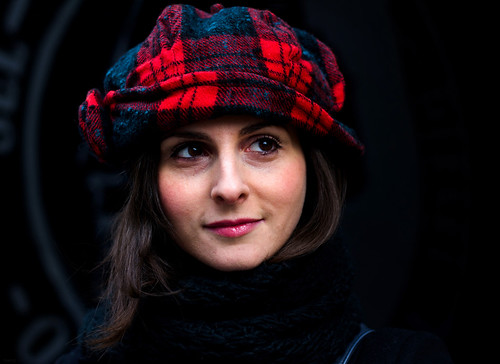 Italian Actress In Her Tartan Hat
