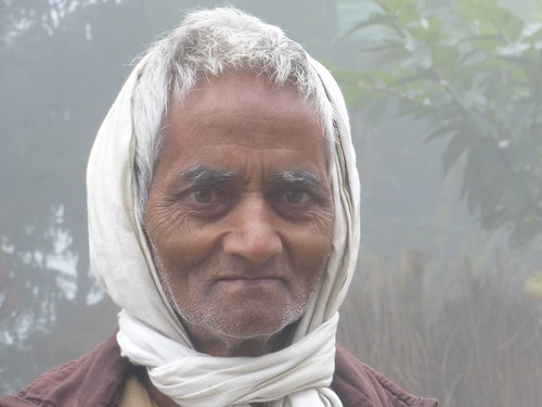 Panchamlal Mahto, the first person in the village to construct an Eco-san toilet.