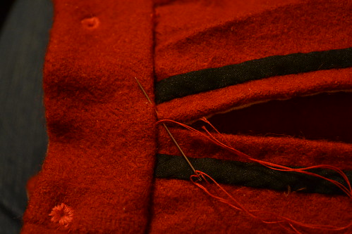 Pants Pocket, Red Men's Outfit, from 1560's Italy, based heavily on Moroni portraits on MorganDonner.com
