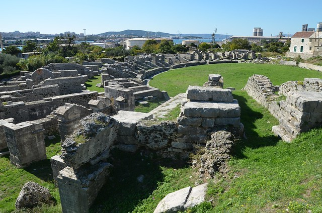 The Amphitheatre, erected in the latter half of the 2nd century AD, the fights in the arena could be watched by some 17,000 spectators, Salona