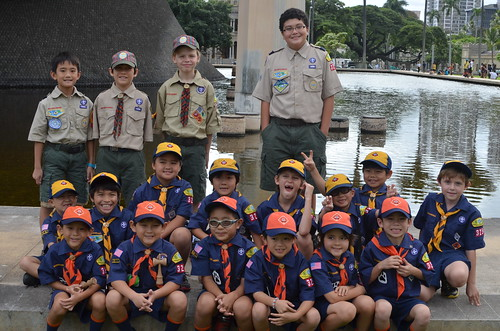 Pack 325 before the parade