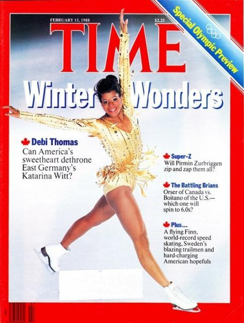 a newsweek cover of debi thomas
