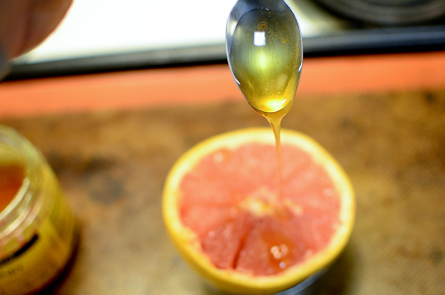 Cinnamon + Honey broiled grapefruit