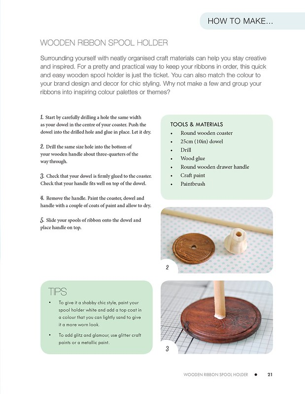 Craft, Show & Sell- Wooden spool holder 2