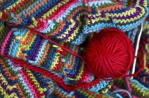 a multicolored blanket
