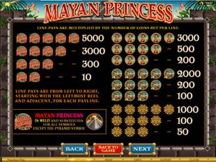 Mayan Princess Slots Payout