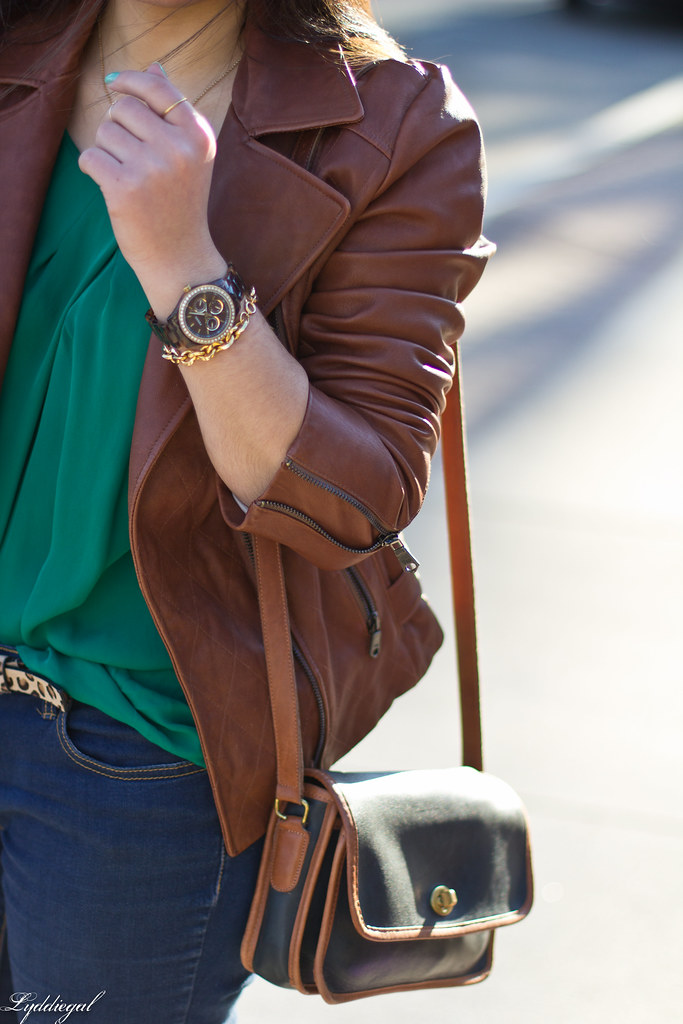 green blouse, brown leather jacket-3.jpg