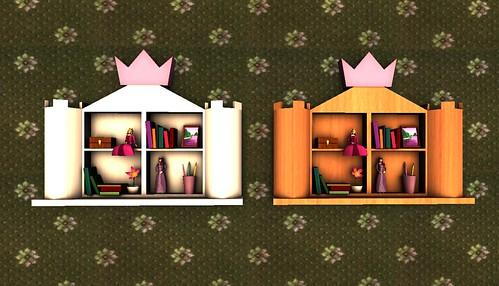 .llama. Princess Bookshelf