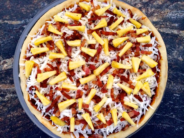 "Bacon ""Hawaiian"" Pizza Ready to Bake"