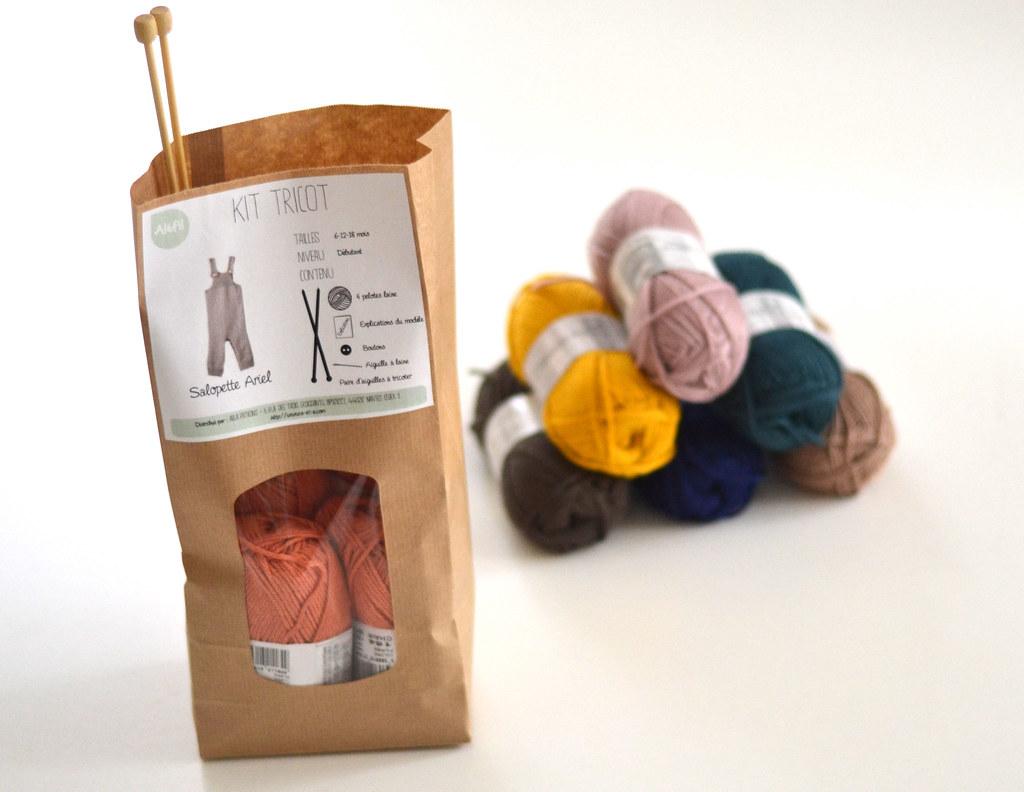 Kit tricot - salopette Ariel - bébé