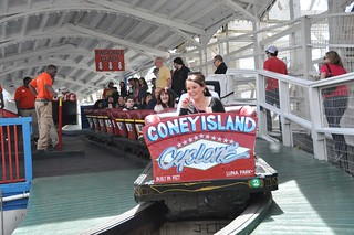 The official opening- Cyclone Rollercoaster-2014