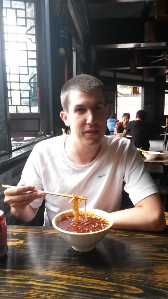 Andrew Eating Hot & Spicy Potato Noodles