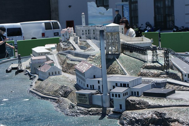 > Maquette l'Alcatraz, tout ce vous verrez si vous ne réservez pas votre traversée à l'avance.