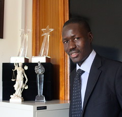 Ugandan lawyer Gerald Abila is the founder of the award-winning Barefoot Law, a tech-savvy non-profit that uses Facebook, Skype, Twitter, SMS, radio and television partnerships to improve access to justice and the law. Credit: Amy Fallon/IPS