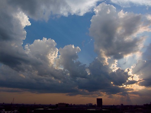 sunset chicago clouds pw