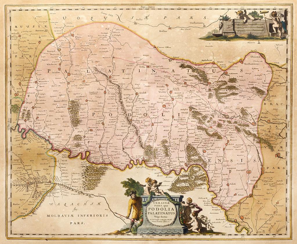 Ukrainae pars qvae Podolia Palatinatus 1670