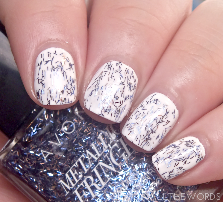 avon metallic fringe top coat tassled trim