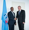 H.E. Mr Guled H. Kassim, Minister of Posts & Telecommunications of Somalia with Malcolm Johnson - Geneva, 23 July 2015