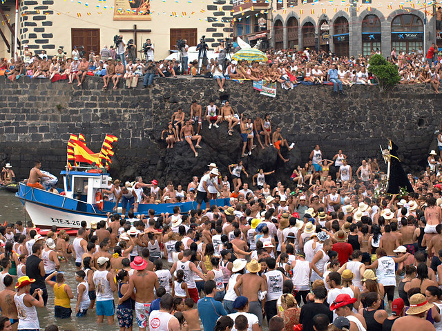 Harbour, July fiestas, Puerto de la Cruz, Tenerife