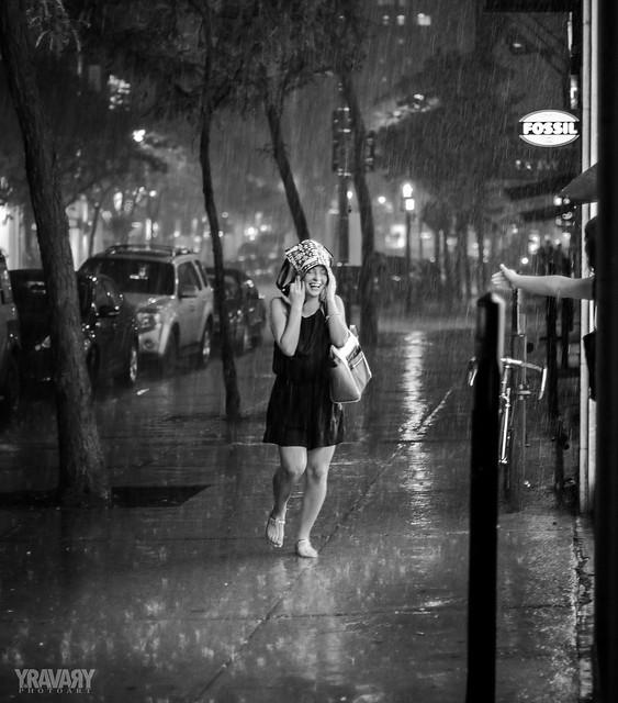 Storm on Ste-Catherine Street, Montreal