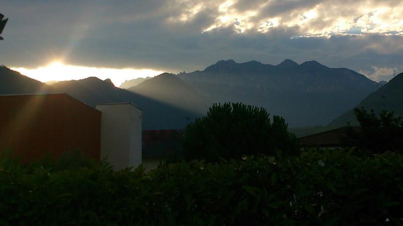 Blick von der Restaurant-Terrasse im Hotel Rudy, Riva del Garda