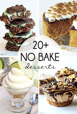 20+ No Bake Desserts from your favorite bloggers!