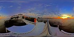 Selfie At Apollo Beach Capturing Gorgeous Dusk On Tampa Bay - IMRAN™ 360° 4π Panorama