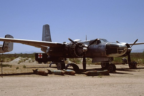 Douglas B-26 Invader at the Pima Air & Space Museum, 1980
