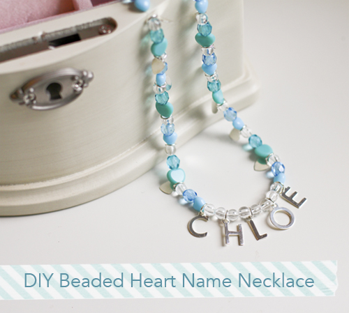 Diy Girls Beaded Heart Personalized Name Necklace Martha