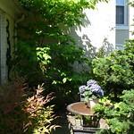 Closeup of private patio