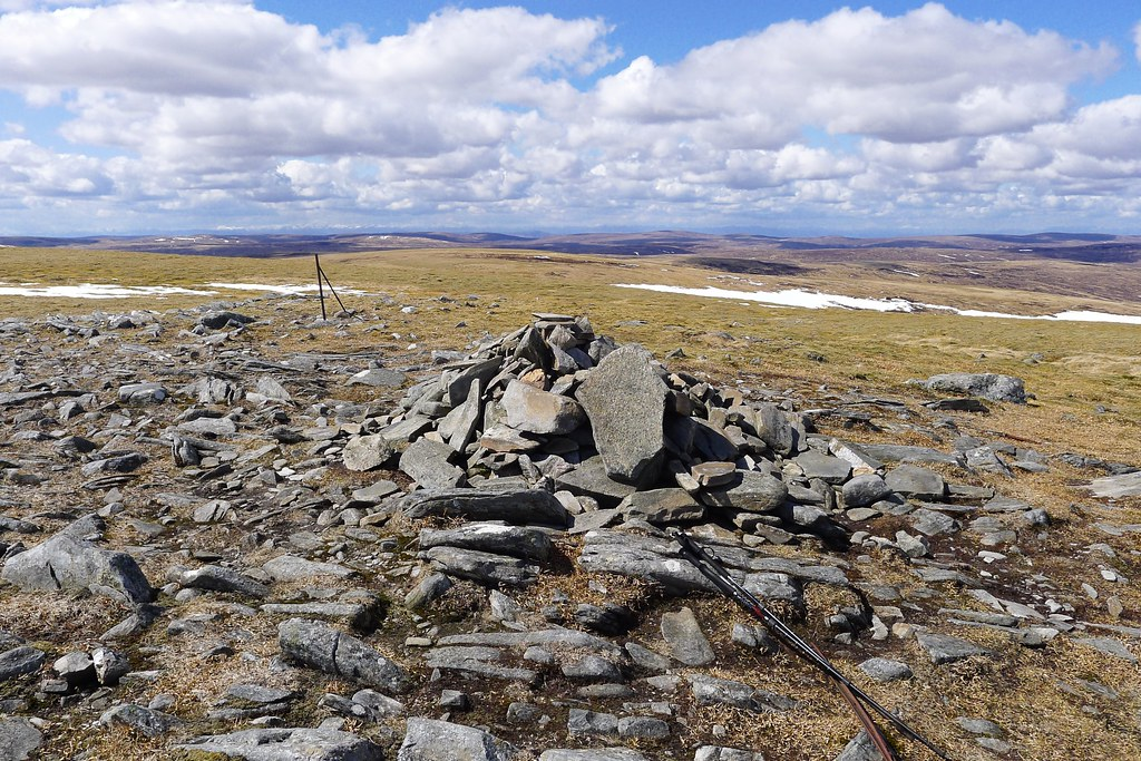 Summit cairn of Carn Sgùlain