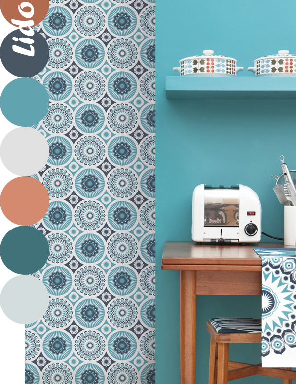 Mini Moderns, Darjeeling Wallpaper in Lido | Emma Lamb